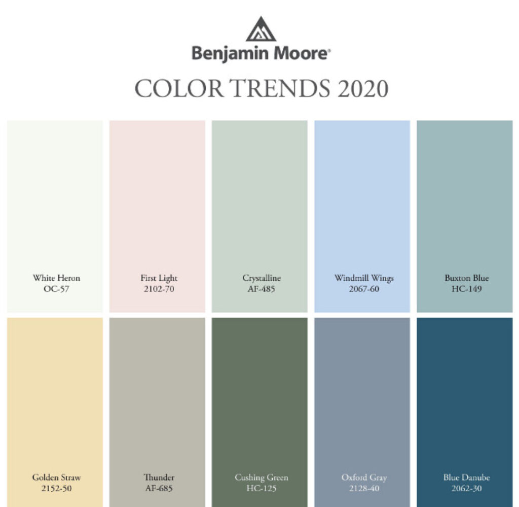 Benjamin Moore 2020 Colors of the Year