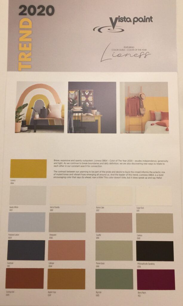 vista paints 2020 color trends