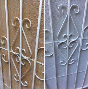 RustOleum Painted Security Door