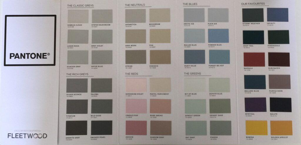 Fleetwood Pantone Colors