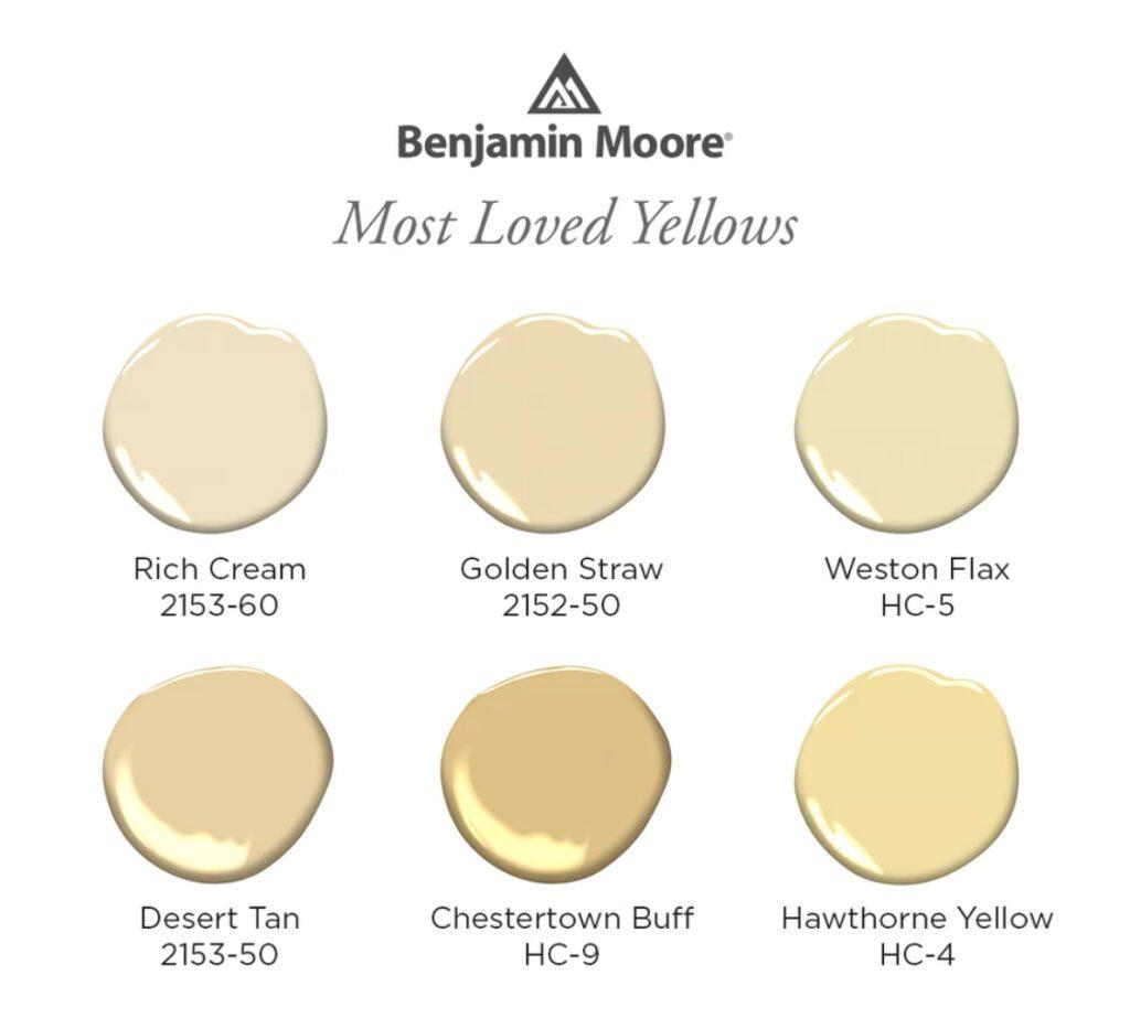 Benjamin Moore Yellows
