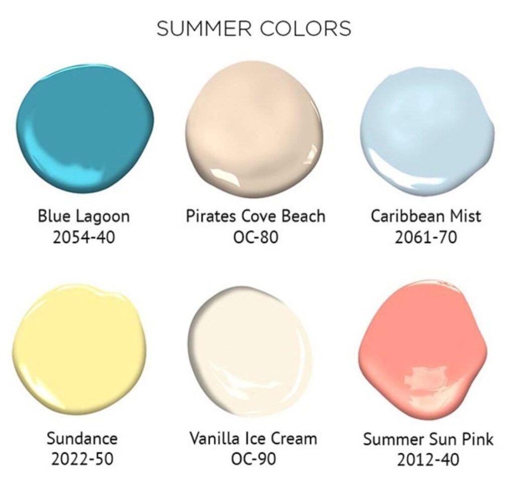Benjamin Moore Summer Colors