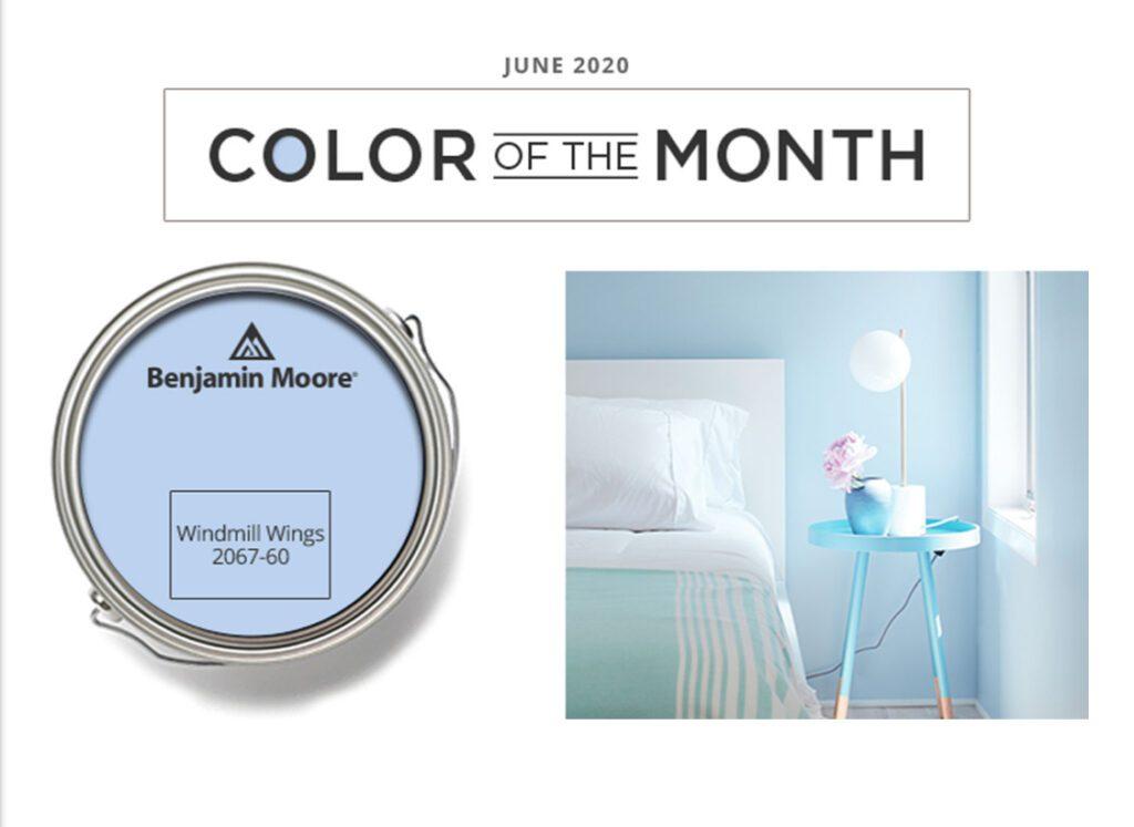 Benjamin Moore Color of the Month June 2020
