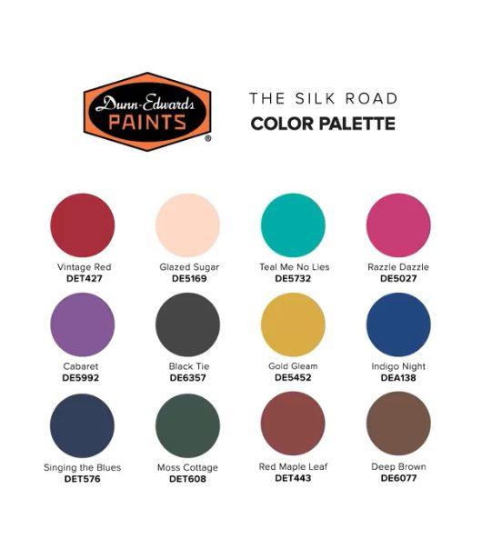 Dunn Edwards 2020 Color Palette