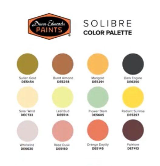 Dunn Edwards Solibre Palette