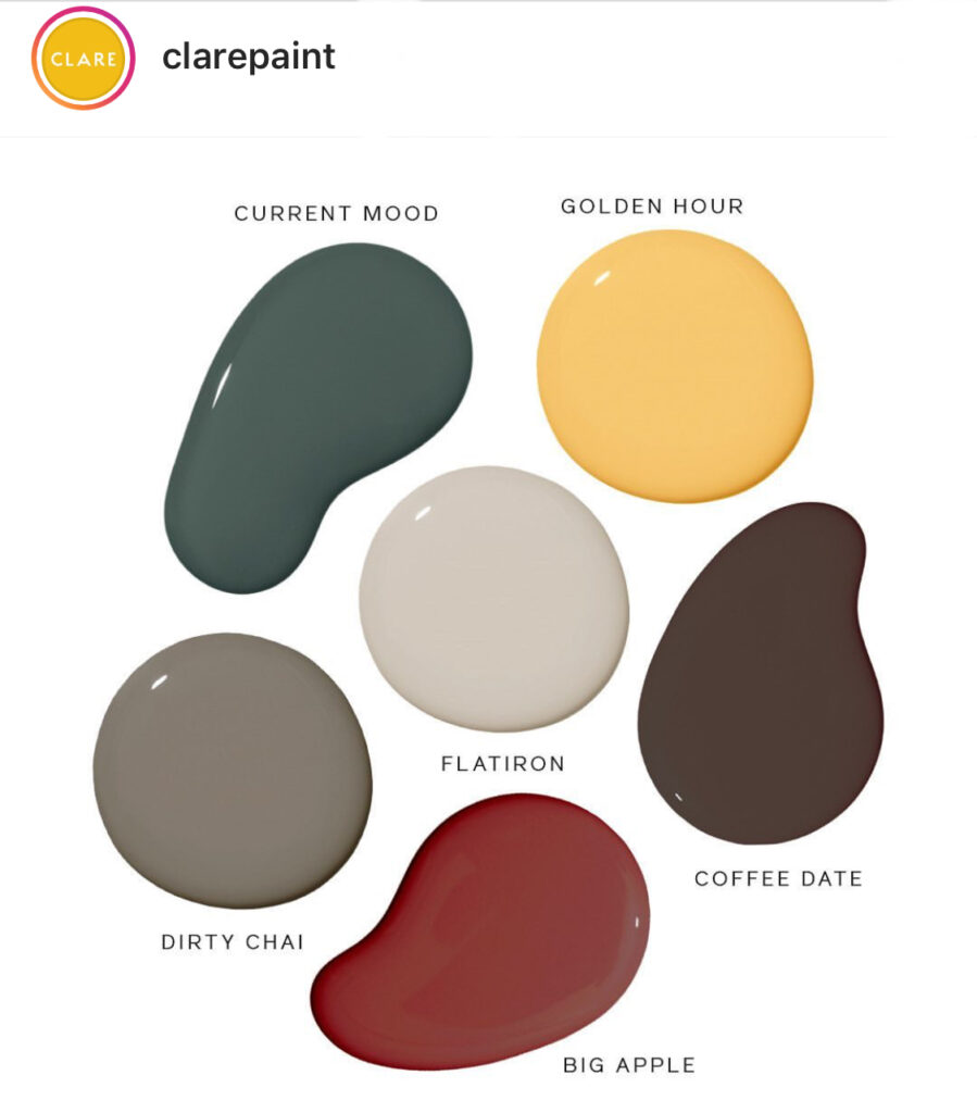 Clare Paint Fall Palette