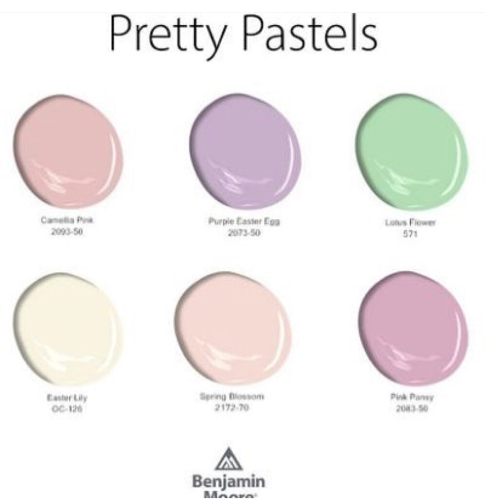 Benjamin Moore Pastel Palette