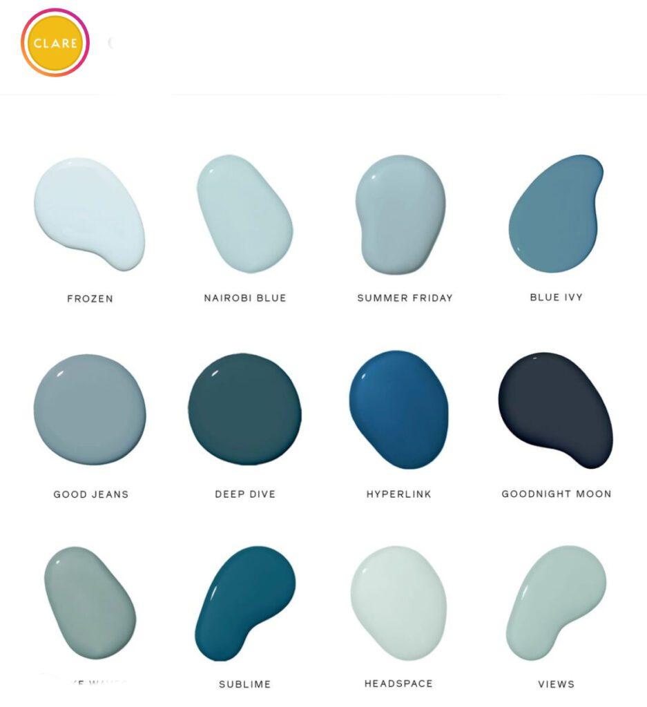 Clare Paint Blue Palette