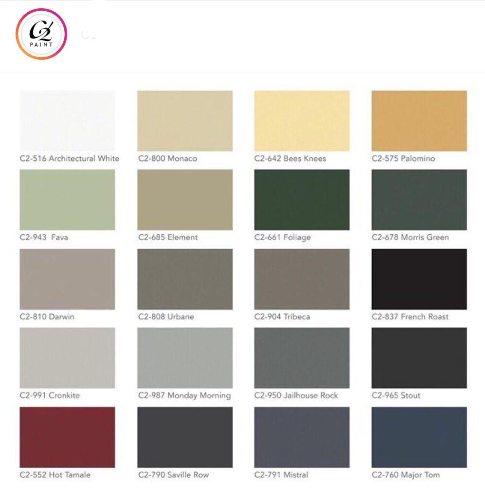 C2 Paint Exterior Colors