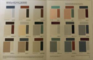 Sinclair Paint Exterior Color Chart