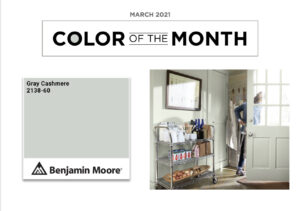 Benjamin Moore Color of the Month