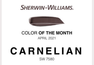 Sherwin Williams April 2021 Color of the Month