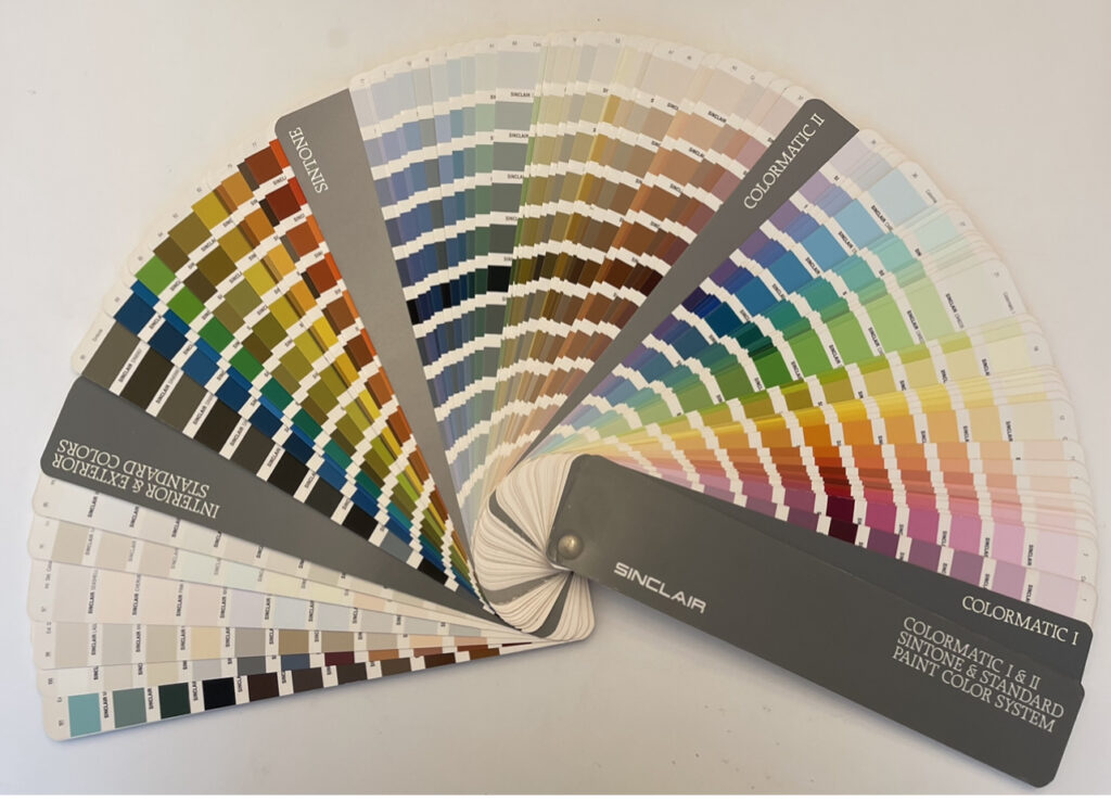 Sinclair paint colormatic colors