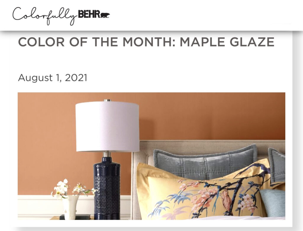 Behr Color of the Month