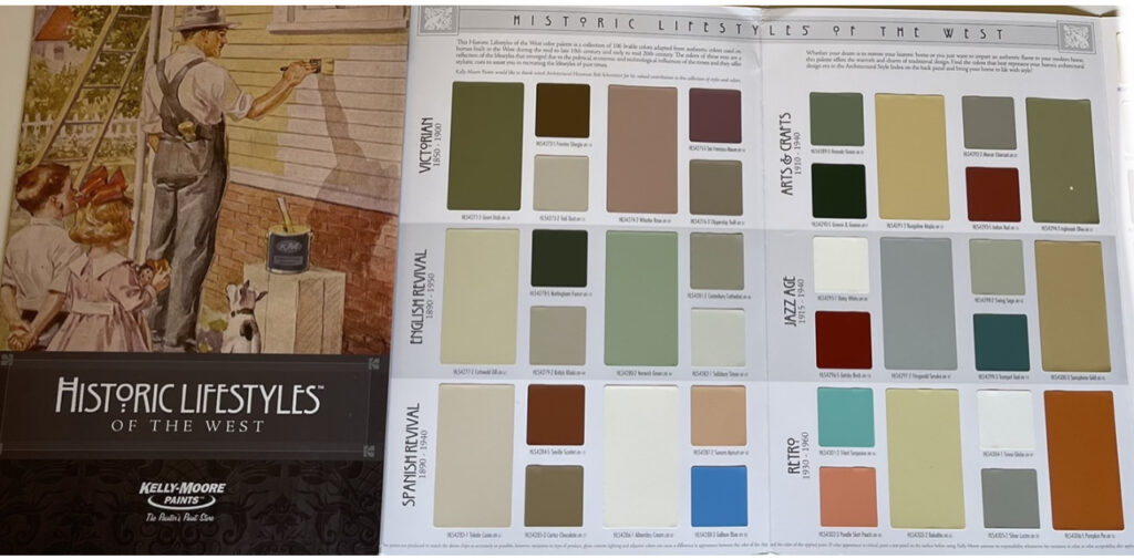 Kelly Moore Historical Colors