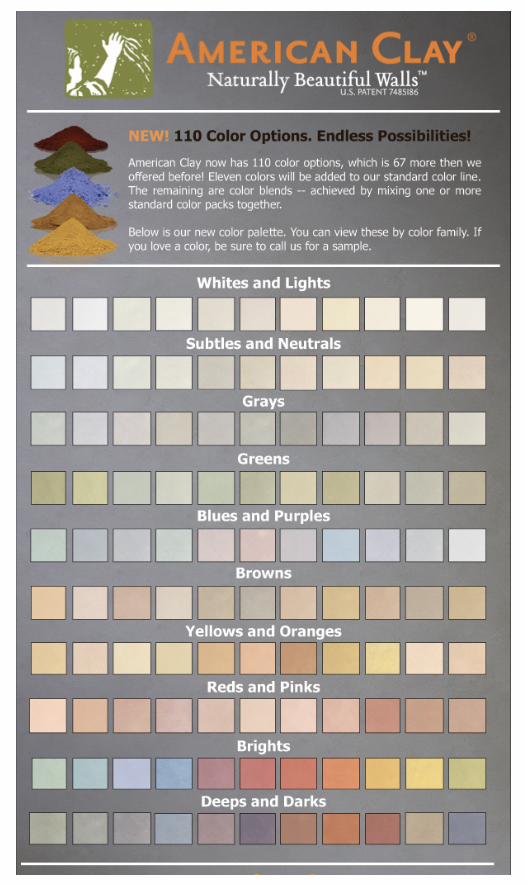 American Clay Colors