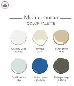 Benjamin Moore Mediterranean Colors