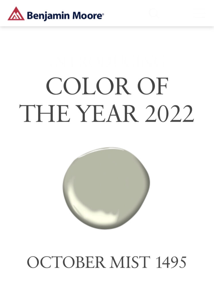 Benjamin Moore 2022 Color of the Year