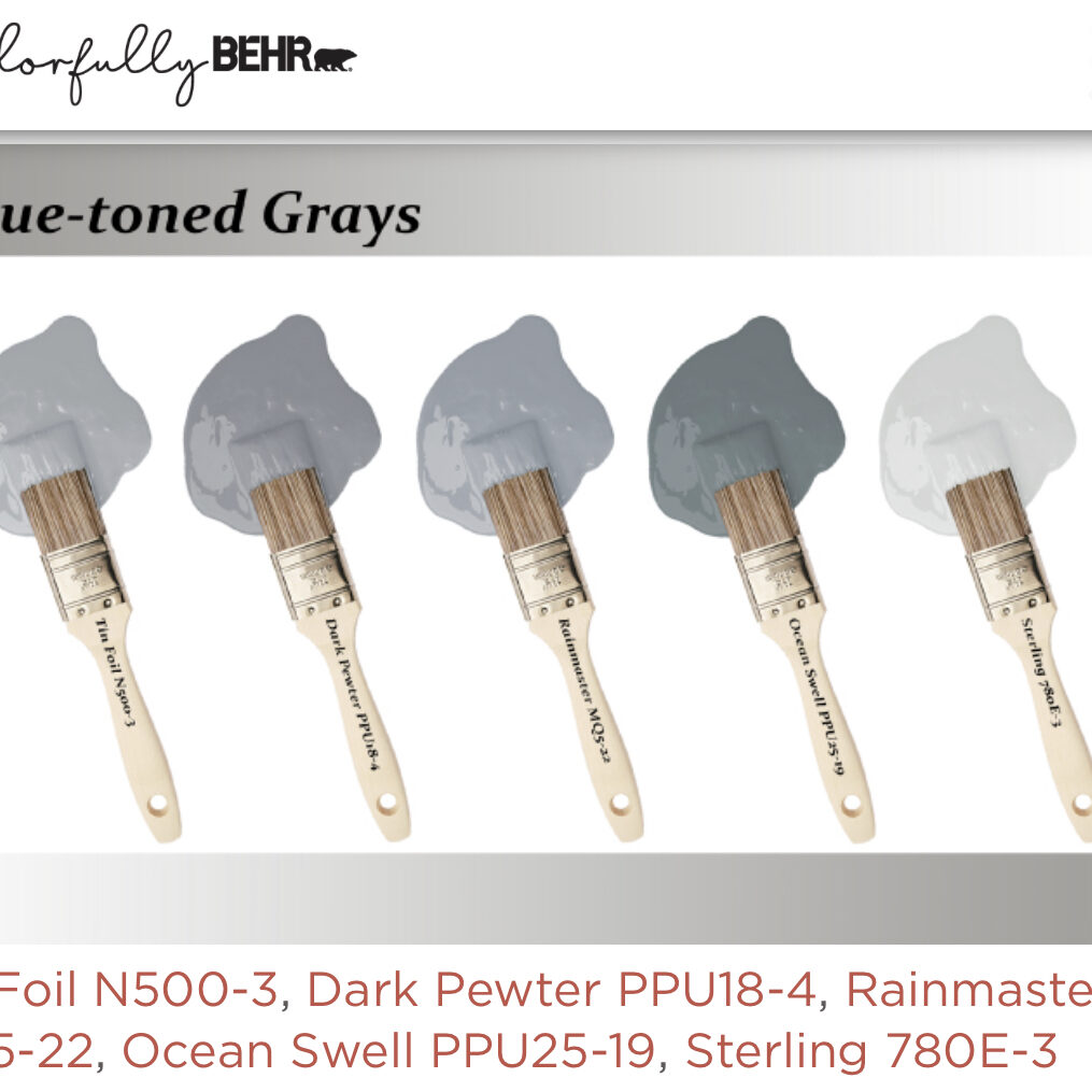 Behr blue toned grays