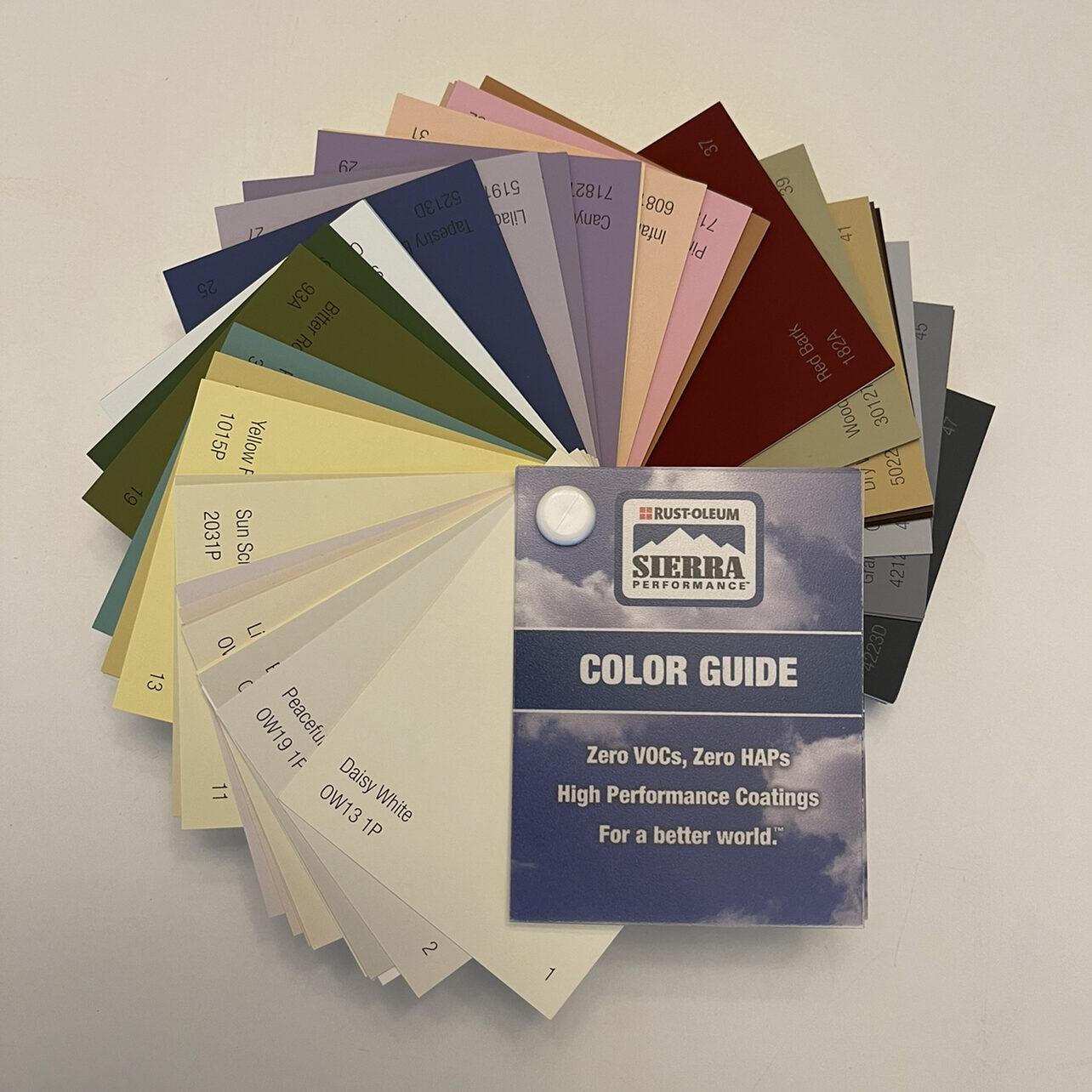 RustOleum Sierra Color Guide