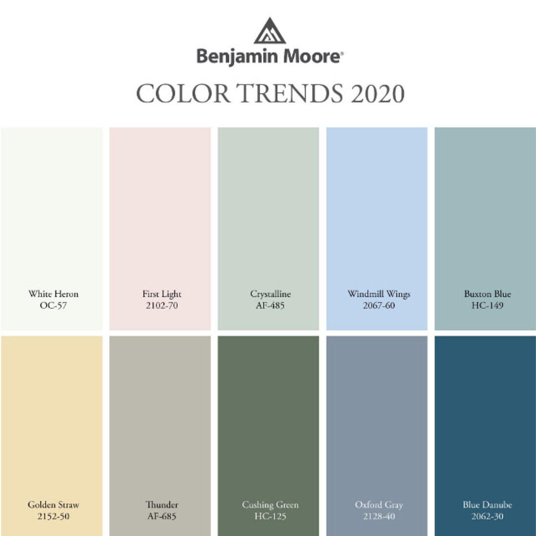 Benjamin Moore 2020 Colors of the Year
