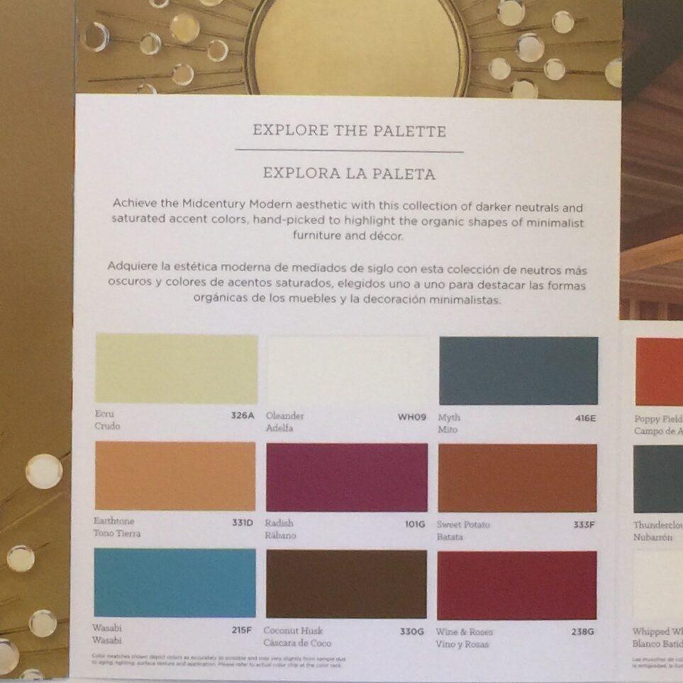 Pratt & Lambert Mid Century Colors