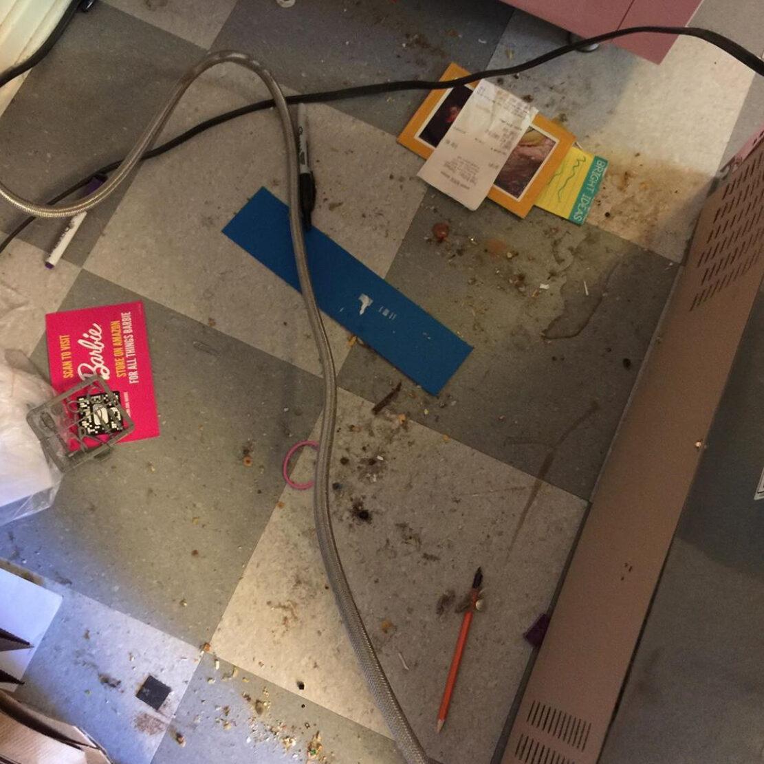 Dirt under refrigerator