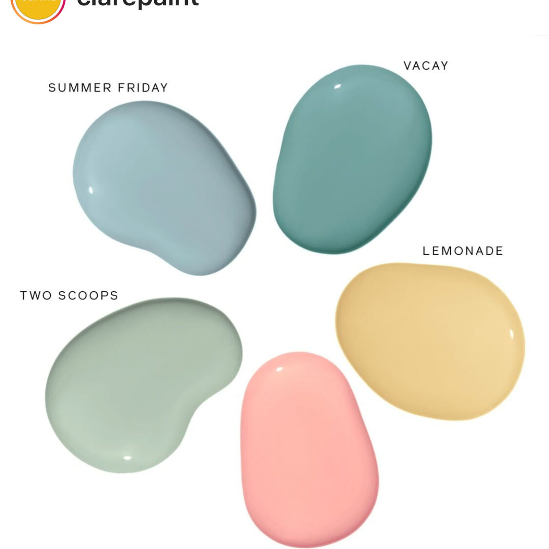 Clare Paint Summer Colors