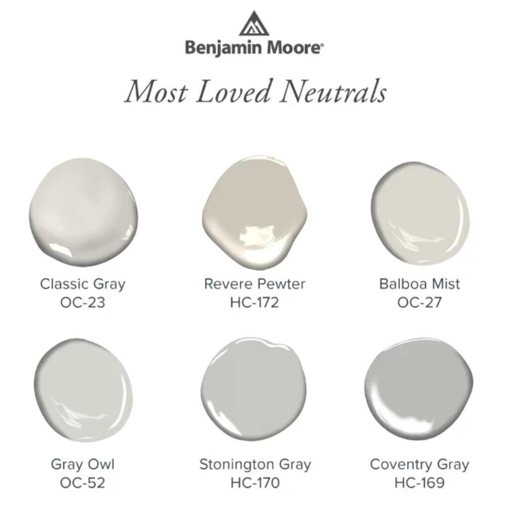 Benjamin Moore Popular Neutrals