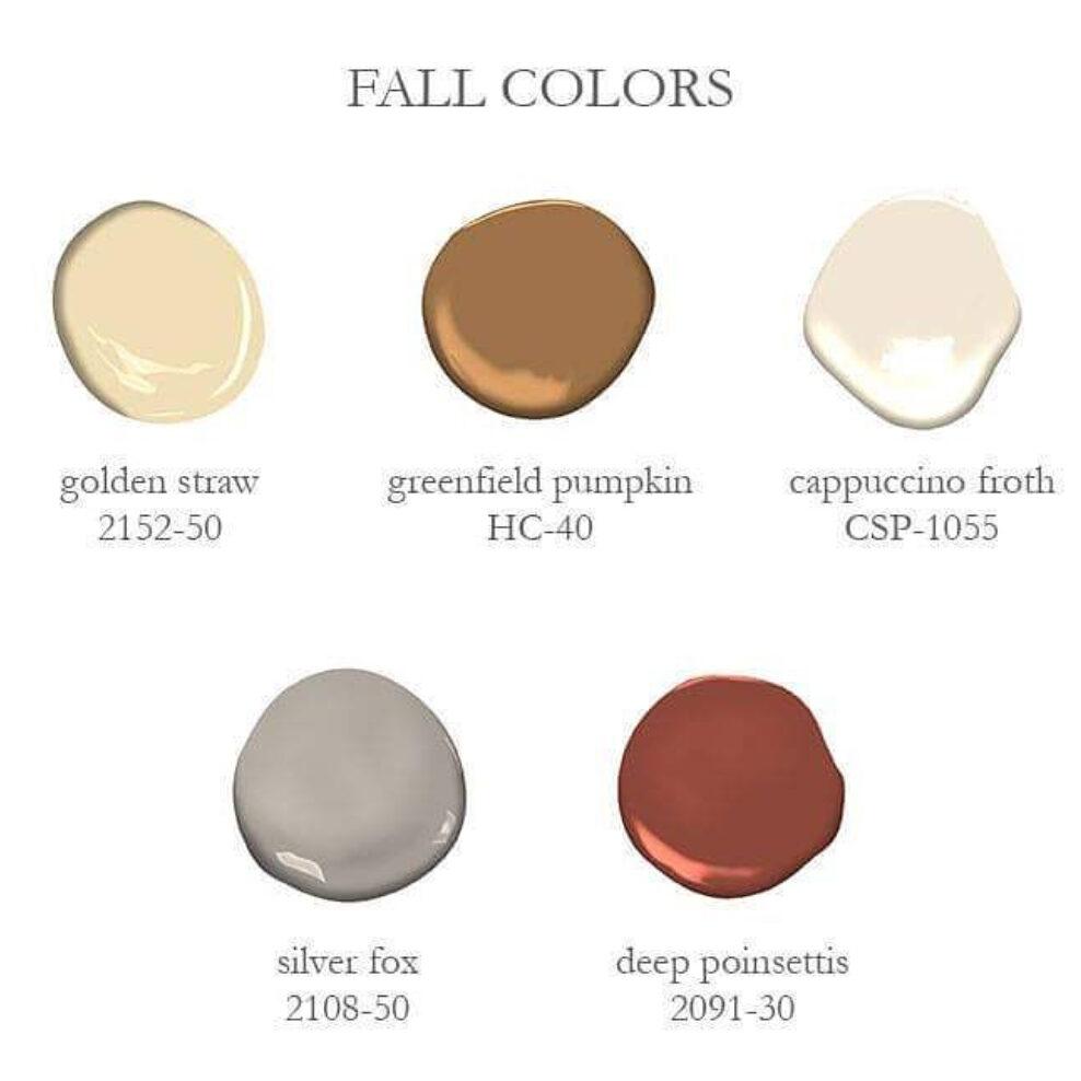 Benjamin Moore Fall Colors